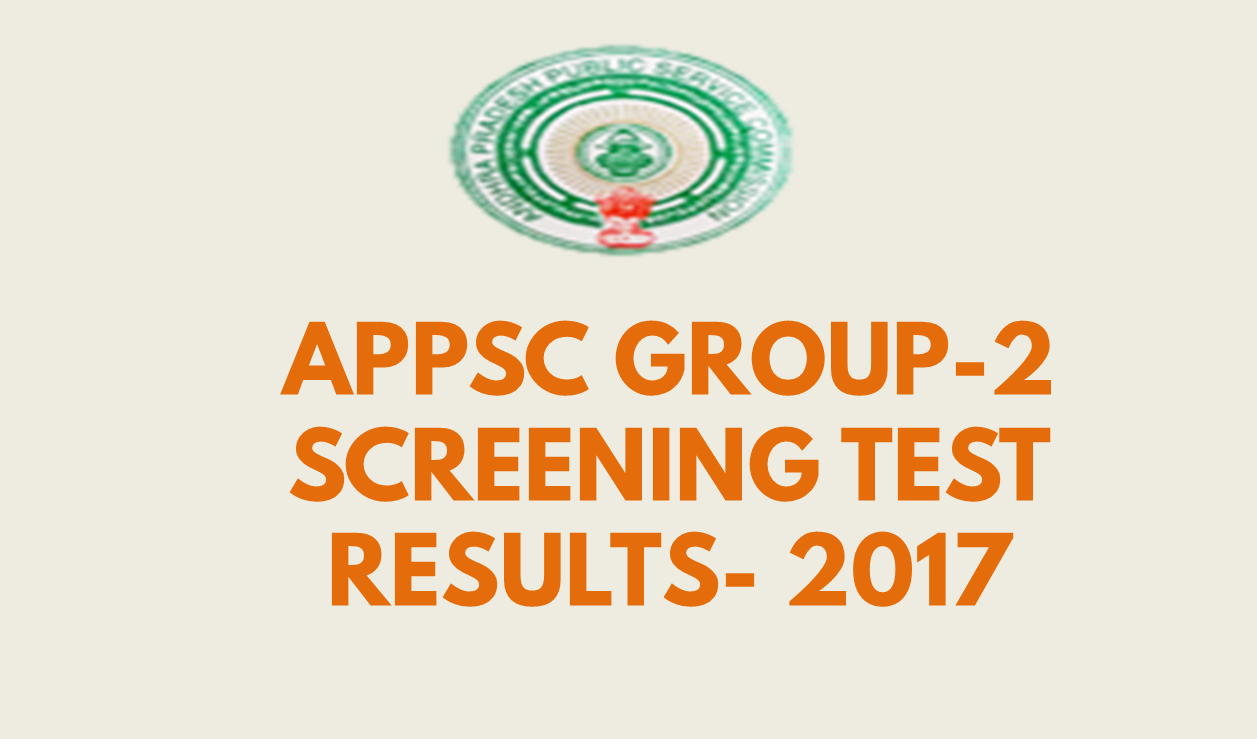 appsc group2 screening test results