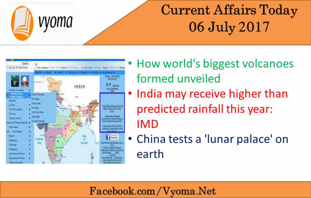 Current affairs today 06 july 2017