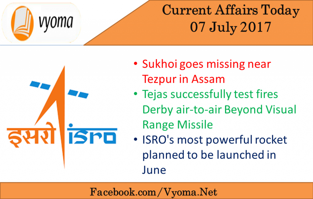 Current affairs today 07 july 2017