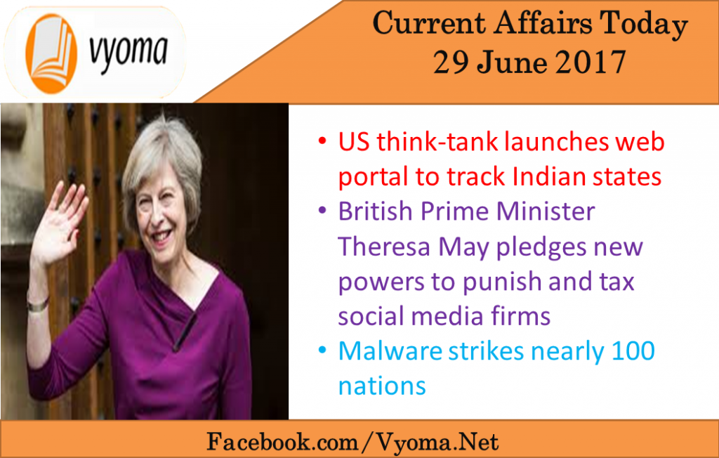 Current affairs today - 29 june 2017