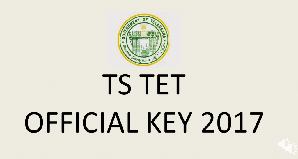 ts tet official answer key 2017