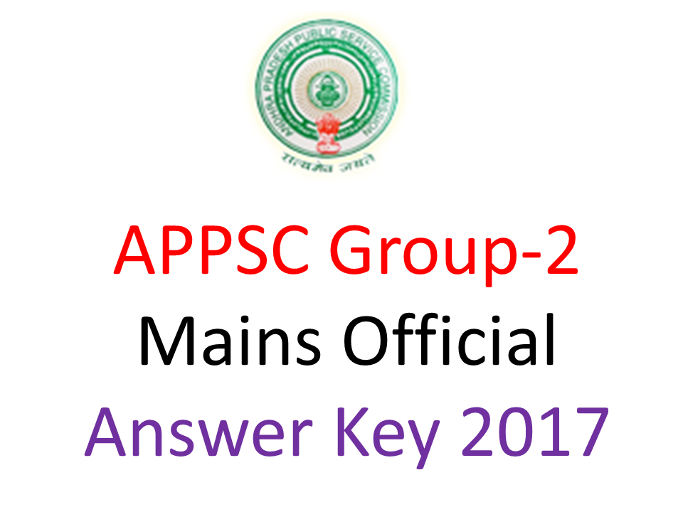 Appsc Group2 Mains Answer Key 2017