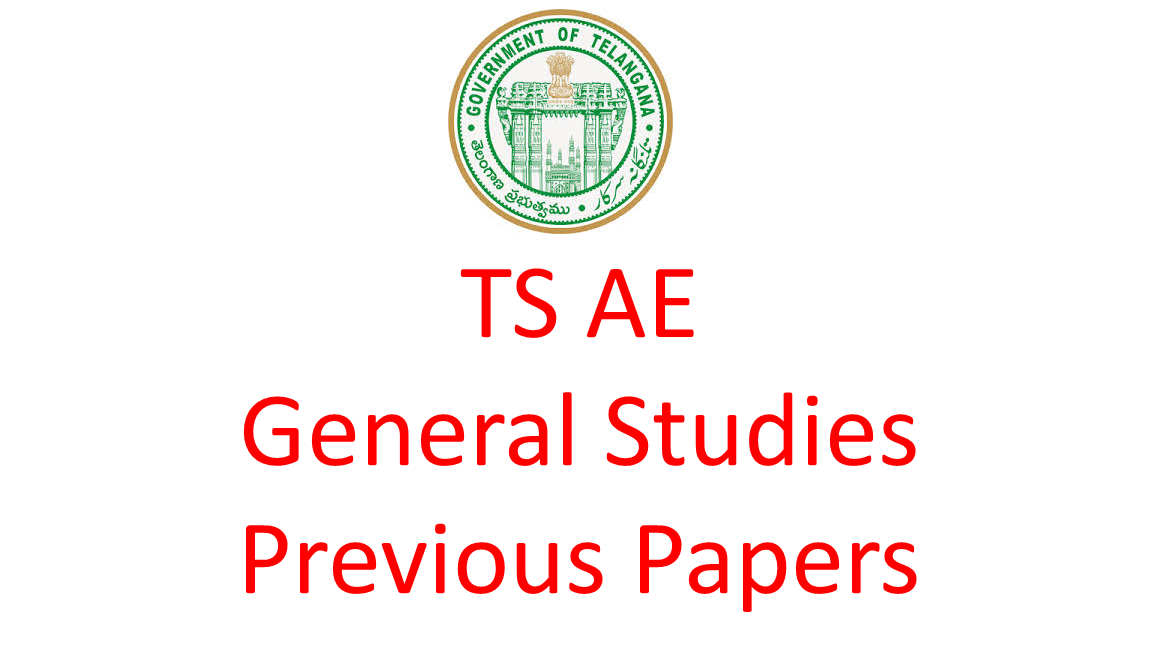 TS AE General Studies Previous Question Paper