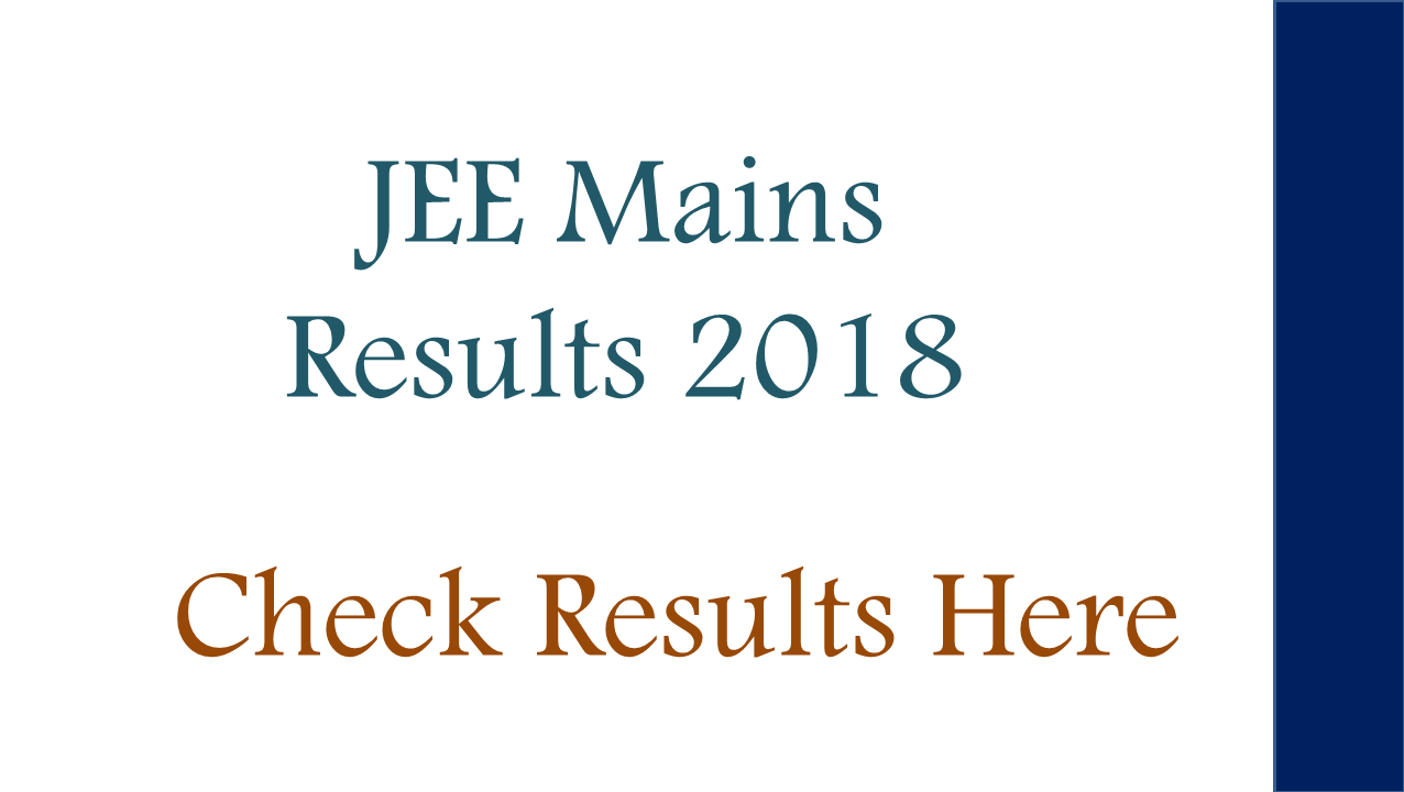 jee main paper 1 results 2018