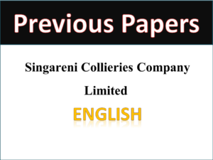 SCCL Singareni Previous Papers English