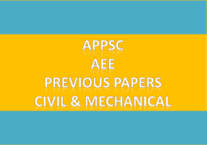 APPSC AEE Previous Paper 2016 Civil