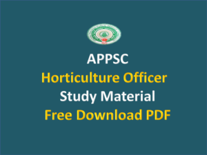 APPSC Horticulture Officer Material
