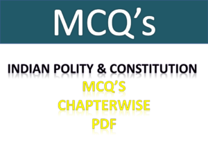 Indian Polity And Constitution Objective Bits Free Download PDF