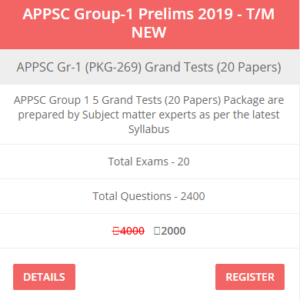 appsc group 1 Prelims Test Series Telugu Medium 2019