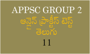 APPSC Group 2 Online Practise Test In Telugu 11