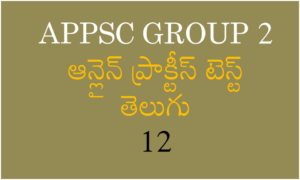 APPSC Group 2 Online Practise Test In Telugu 12